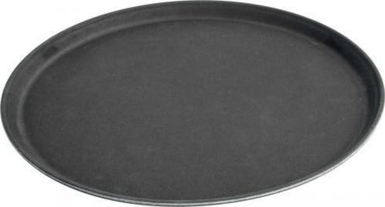 Tava neagra ovala pentru servire 635x510 cm