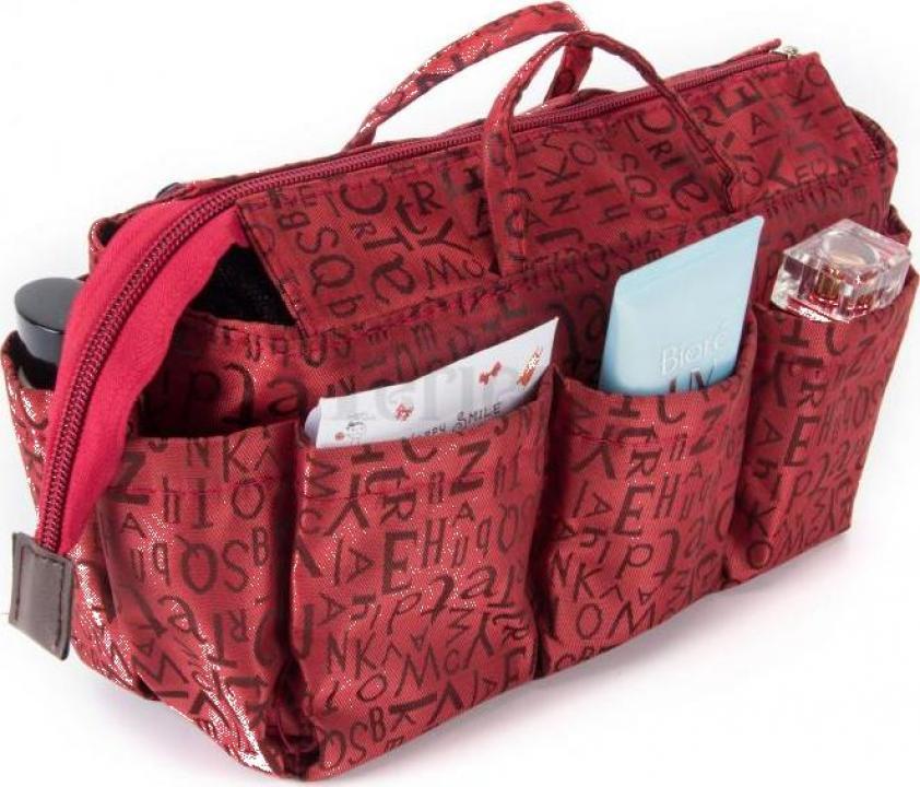 Organizator geanta sau poseta Keriea-rosu