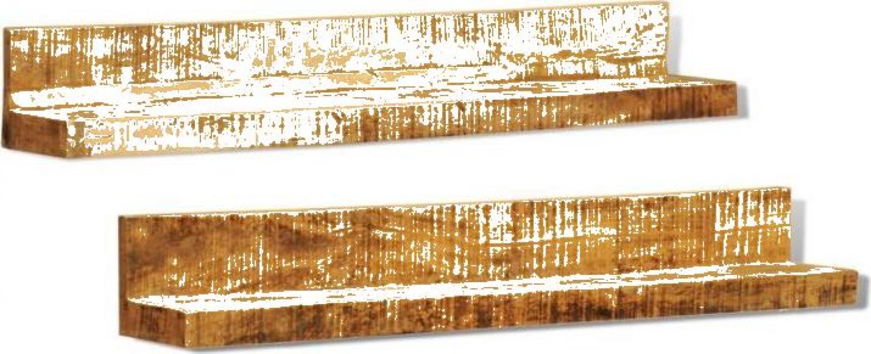Etajera din lemn masiv cu montare pe perete, 2 buc.