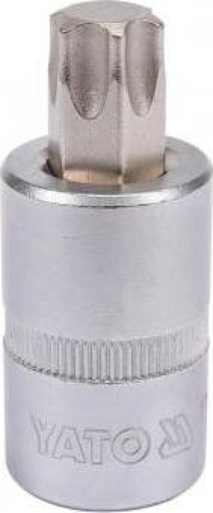"""Bit torx cu adaptor Yato YT-04318, 1 2"""", T60, Cr-V"""