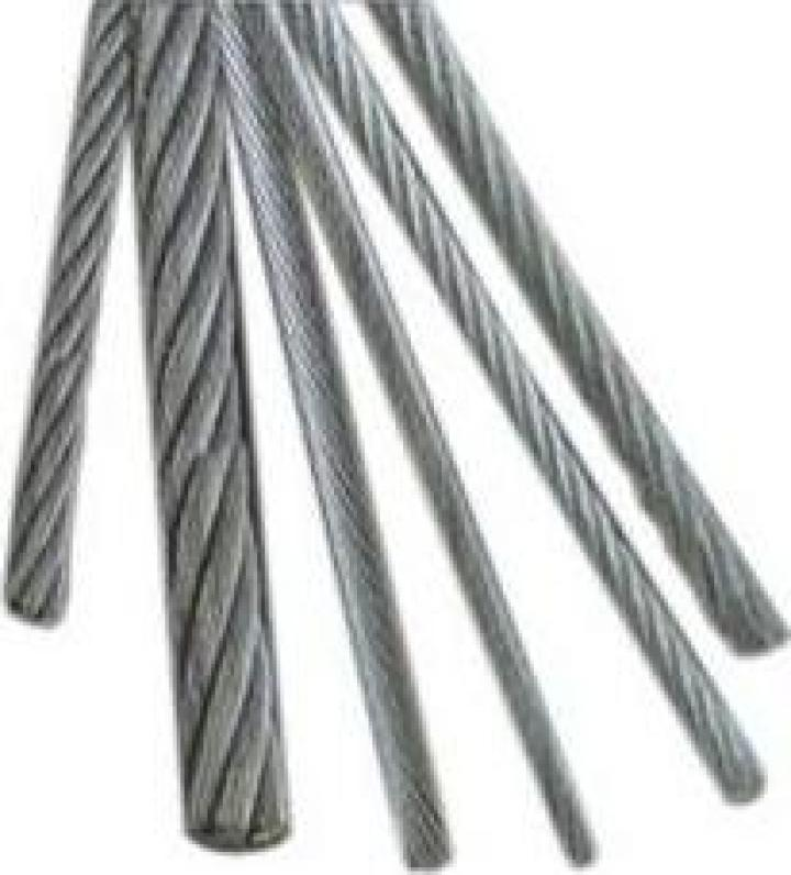 Cabluri din otel zincate spiroidale 1x7