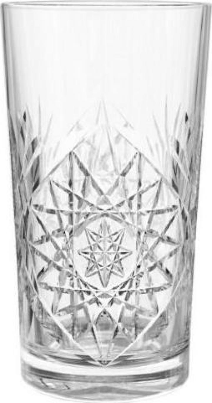 Pahar din sticla Hobstar longdrink, 350 ml