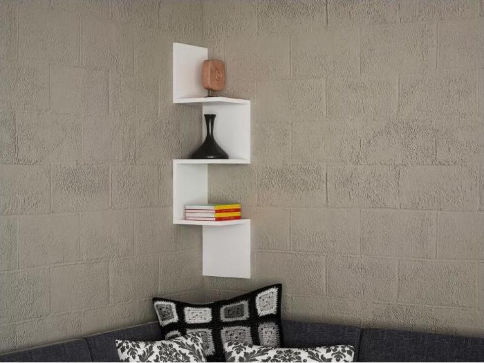 Raft de perete Corner Furny Home, 25 x 105.4 x 22 cm, PAL