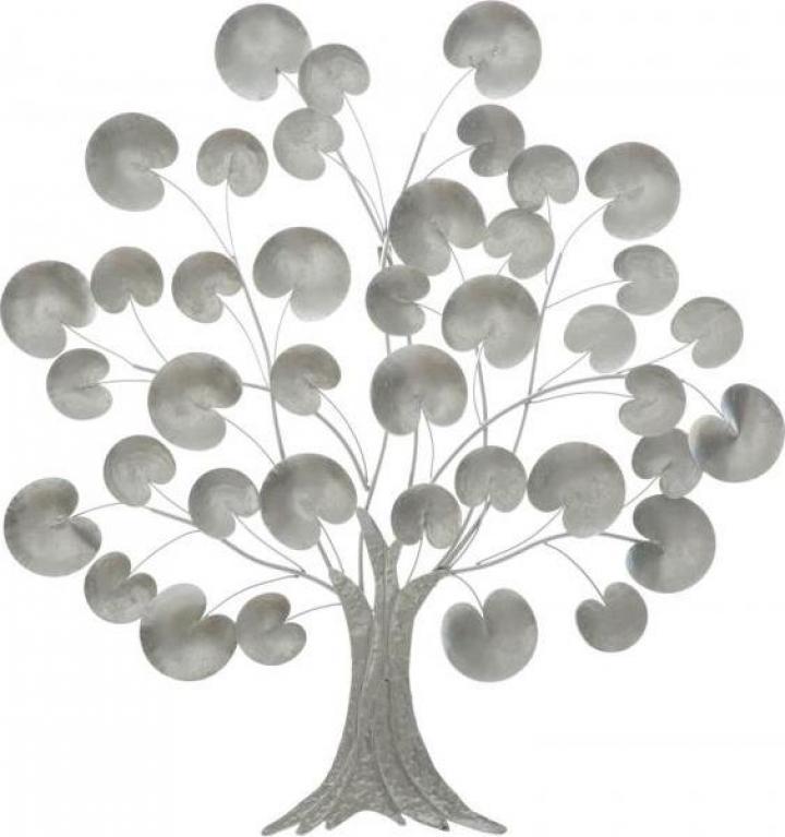 Decoratiune de perete Tree of Life Silver (cm) 87,5x3,5x93