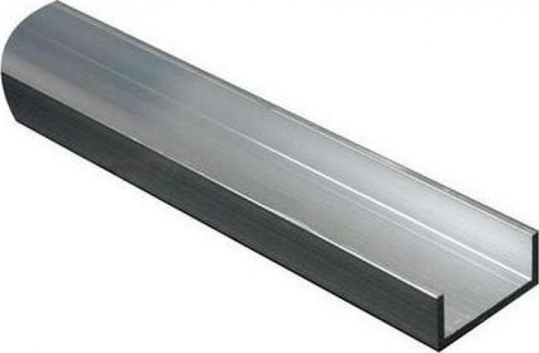 Profil U aluminiu 40x80x40x3mm canal bara U aluminiu, alama