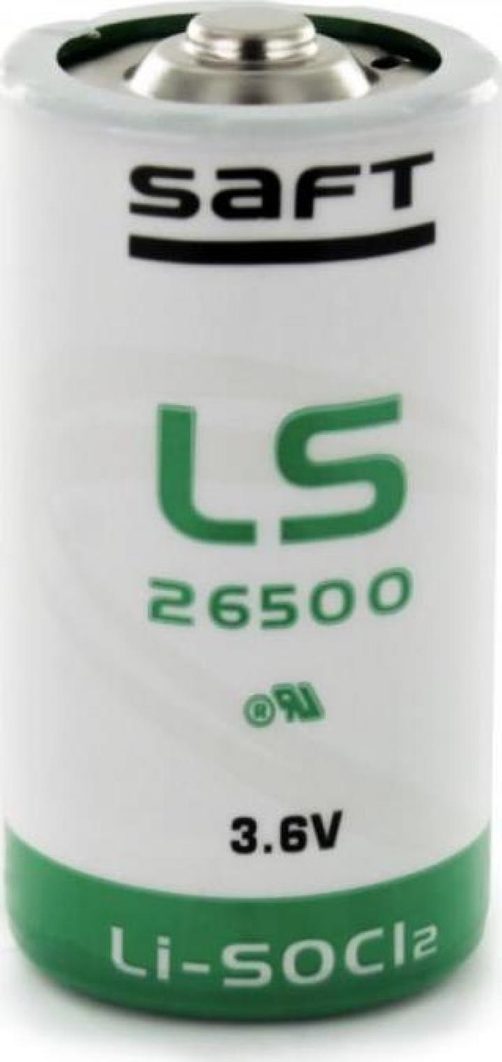 Baterie litiu Saft LS26500, C (R14) 3.6V 7700mAh