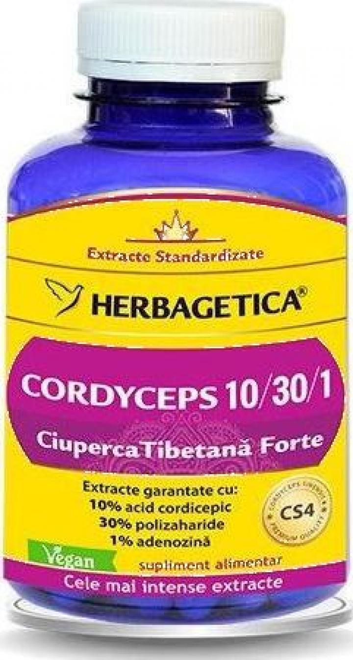 Supliment alimentar Cordyceps 10/30/1, 120 cps