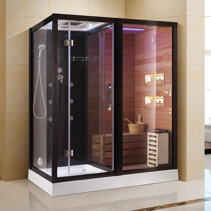 Cabina hidromasaj si sauna uscata cu pietre