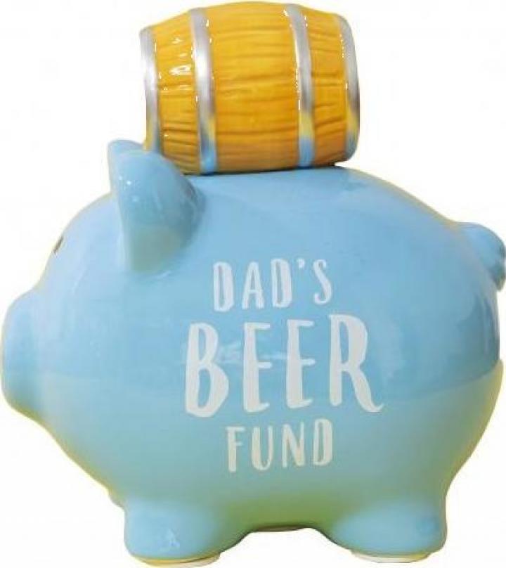 Pusculita din ceramica pentru tata fonduri pentru bere
