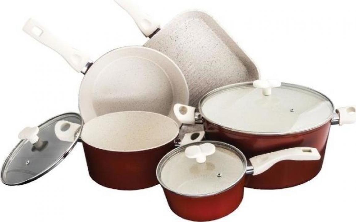 Set oale 8 piese Heinner, ceramica + marmura