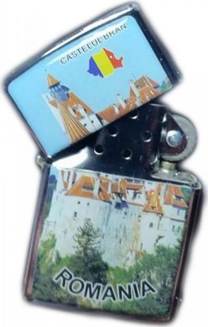 Bricheta metalica cu benzina personalizata Castelul Bran