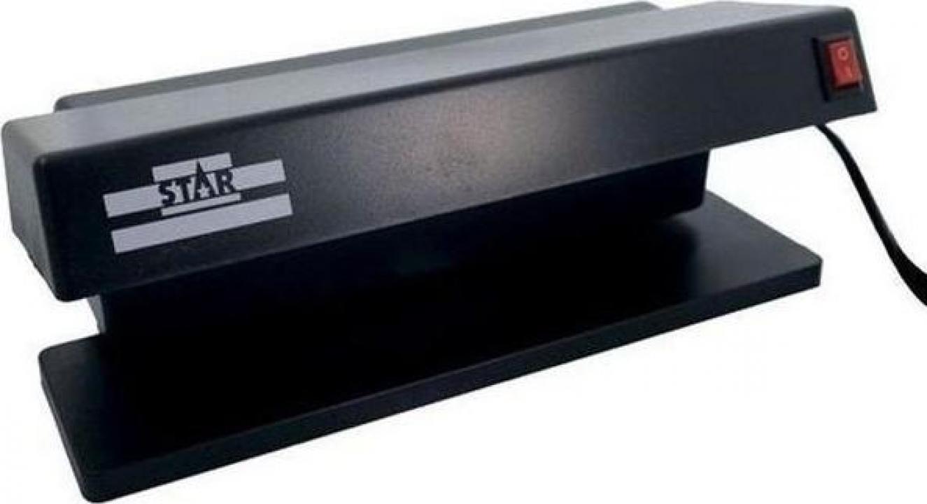 Detector multifunctional de bancnote cu doua lampi UV 6W