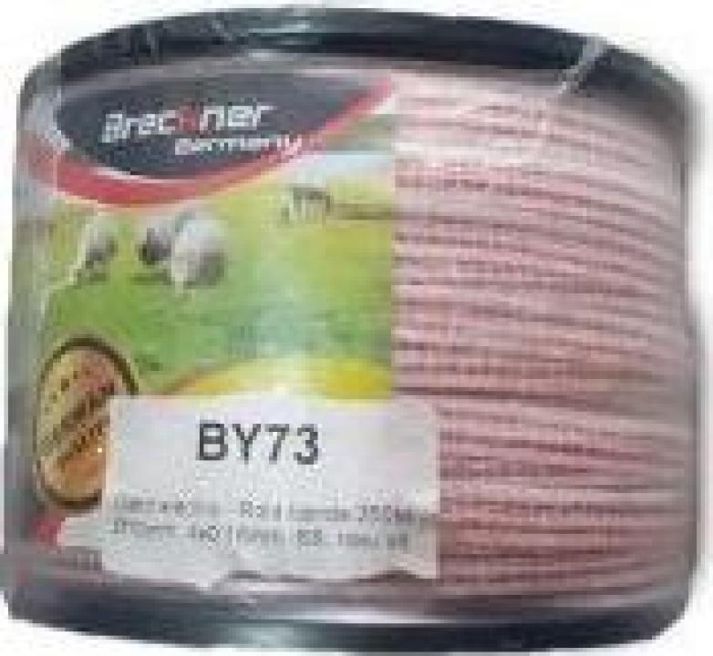 Rola banda 250M FI10MM 4x0.16 rosu alb DISBY73