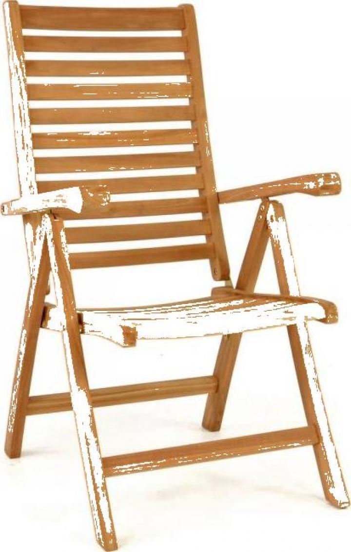 Scaun pentru terasa pliabil din lemn de teak, impregnat