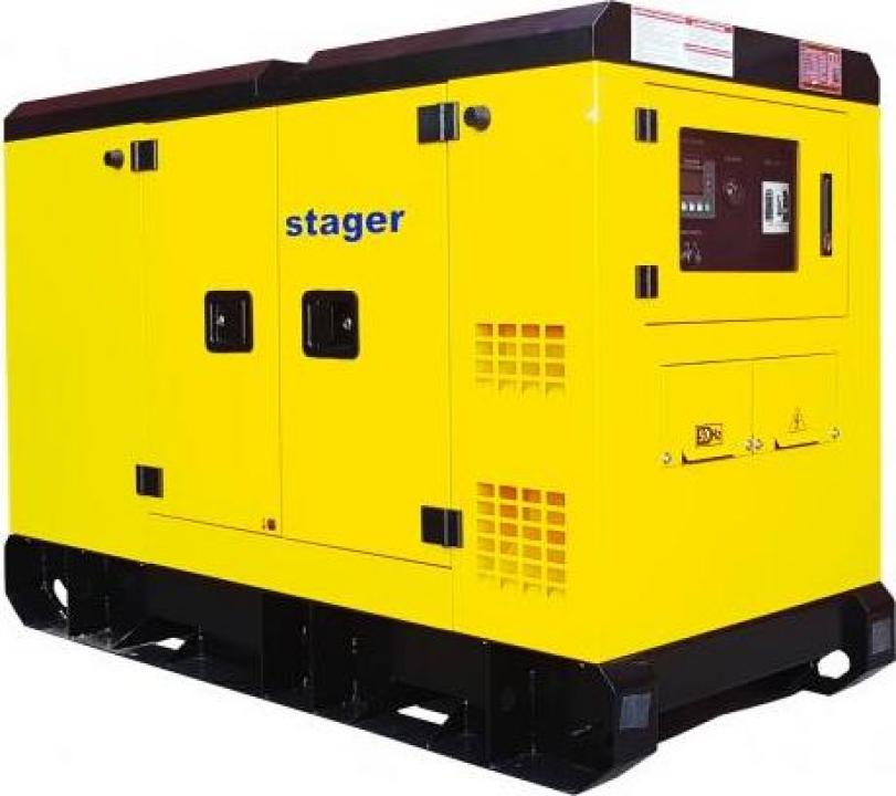 Generator silent Stager YDY453S3, diesel, 453kVA