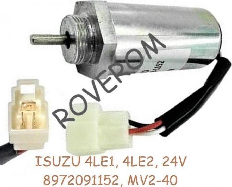Solenoid 24V, Isuzu 4LE1, 4LE2, Case, Kobelco, Hitachi