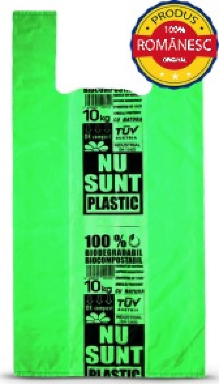 Sacose biodegradabile 10 kg, 100 buc/set, 6 set/bax
