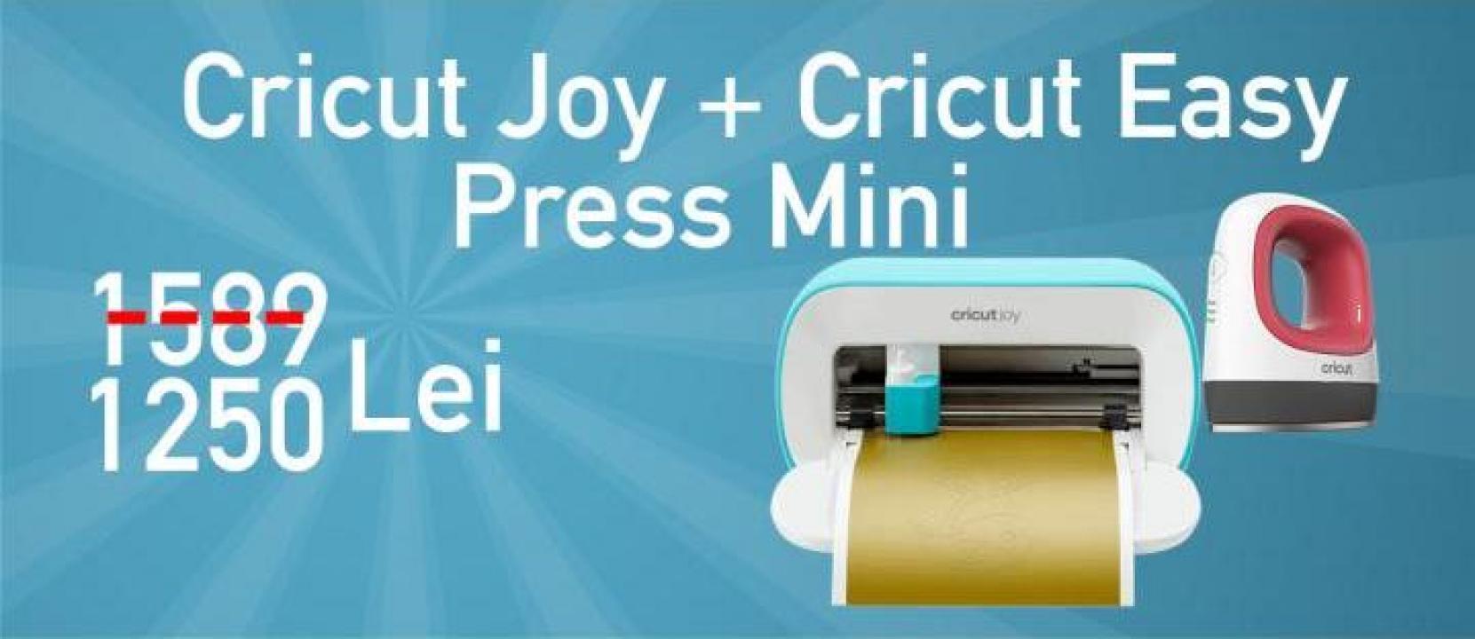 Masina de taiat si scris Cricut Joy + Cricut EasyPress Mini
