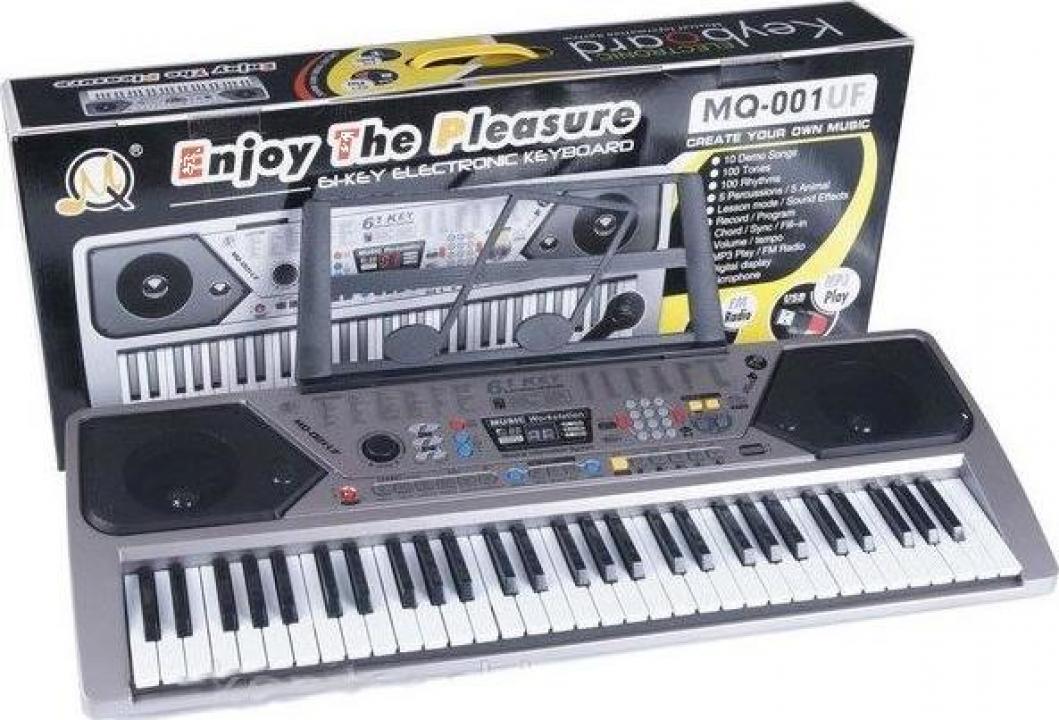 Orga electronica MQ-001UF cu 61 clape, USB, MP3, Radio Fm