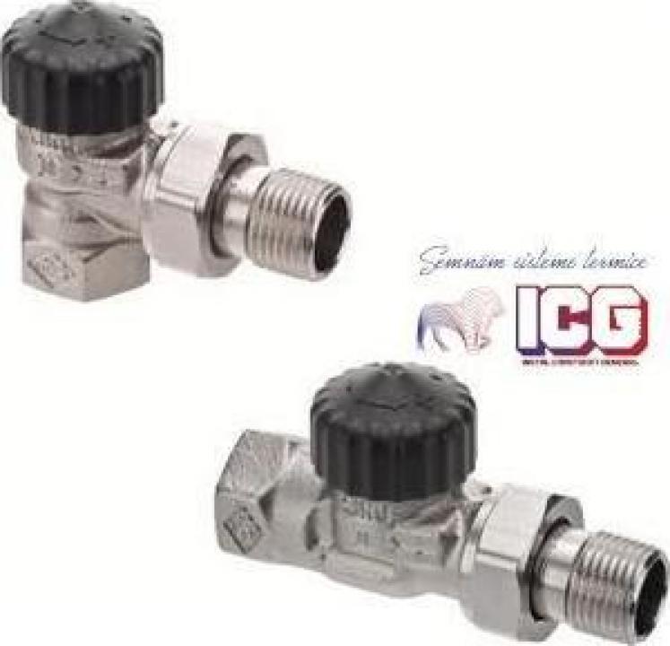Robinet termostatic cu rezistenta hidraulica redusa