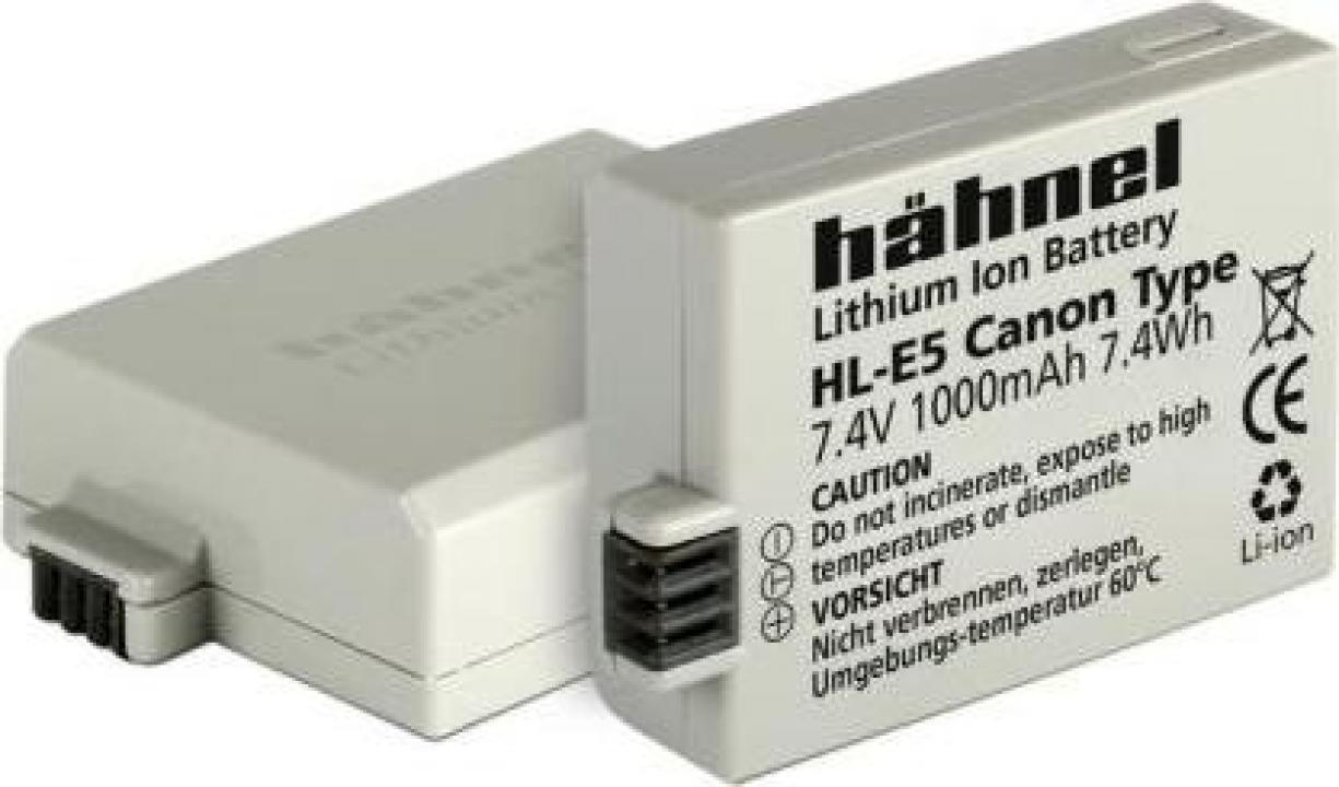 Acumulator Hahnel HL-E5 Canon LP-E5 1000mAh